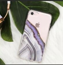 Casery Hybrid Purple Agate iPhone Case- 6/6s/7/8