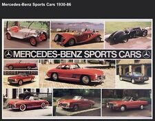Mercedes - Benz Sports Cars 1930-1986 History - Out of Print Car Poster! Own It!