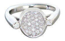 Verstellbarer Silberring 925 mit Zirkonias - funkelnder Ring Silber - Damenring