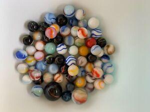 Vintage glass Marbles lot. Estate find. Tigers eyes moonstone Gorgeous colours