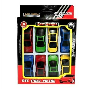 NEW 8 Pc Die Cast Racing Cars Vehicle Kids Boys Play Set Army Rescue Police Work