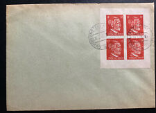 1945 Hohllenstein Germany OSS Forgery Cover Stamp Block 2