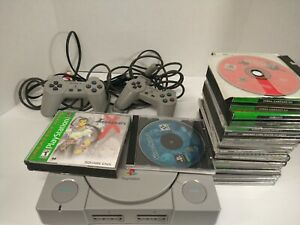 Playstation 1  W/ Rare Games!! Vandal hearts ll , final fantasy 7 xeno gears!!