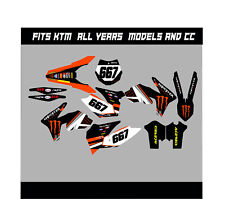 KTM SX SXF 85 125 250 450 FULL GRAPHICS KIT DECALS STICKER KIT ALL YEARS