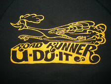 Vintage 1980s ROAD RUNNER CREW NECK SWEATSHIRT Double Sided Print HANES TAG L