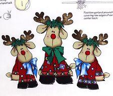 Daisy Kingdom Printed Panels Rockin Rudy & Jr Fold Up Reindeer Soft Sculpture