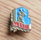1950s Czechoslovakia MDZ International Women's Day, Woman And Child Pin Badge
