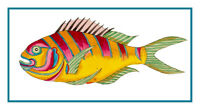 Fallour's Renard's Fantastic Tropical Fish 6 Counted Cross Stitch Chart Pattern