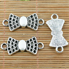 10pcs Tibetan silver 2 holes cameo bowknot connectors EF2011