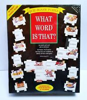 What Word Is That  Quiz Jigsaw Puzzle (1995) 504 Piece Tough Vocabulary Puzzle