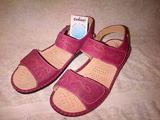 Señoras Damart Sandalias 8E Totalmente Nuevo Sin Usar Con Etiquetas Rosa