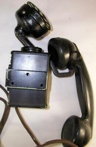 Antique Western Electric C-1 Space Saver Wall Mount Telephone W 5-H Rotary Dial