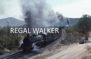 ORIGINAL 35MM NZR ZIMBABWE RAILWAY SLIDE - LOCO'S NO.3 & 2 WANKIE COLLIERY 1989