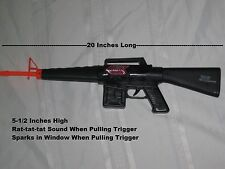 "Machine Guns Military Soldier Black M-16 Toy Rifle With Sound - 20"" X 5"""