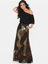 Viscose Short Sleeve Formal Maxi Dresses for Women