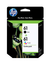 2 Pack Genuine HP 61 Ink Black and Tri-Color Combo Pack CH562WN CR259FN CH561WN