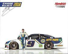 2018 Chase Elliott NAPA Auto Parts NASCAR Signed Auto 8x10 Post Hero Card
