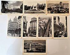 Eight c1930 BUENOS AIRES POSTCARDS Real Photos Calle Florida, Avenida de Mayo NR