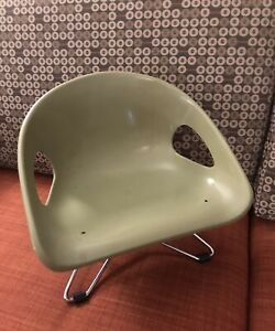 Vintage '60s Hamilton Cosco USA Green Childrens Chair Eames Miller MCM