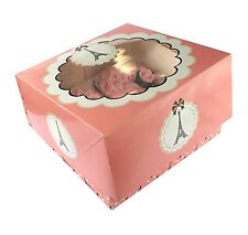 Pack of 6 Parisienne Eiffel Tower Theme Party Favour Cupcake Boxes