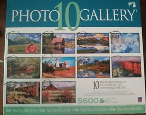 SURE-LOX Photo Gallery 10 Deluxe Jigsaw Puzzles 5600 Total Pieces
