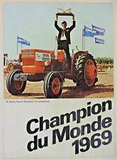 prospectus brochure tracteur FIAT Champion du monde 1969 tractor trattori