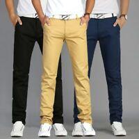 Pantalones de Hombre Casuales Pantalones Ropa de Calidad Moda Pantalón Ajustado