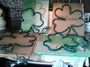 Lot Of 4 St Patrick's Day Lighted Window Wall Decor