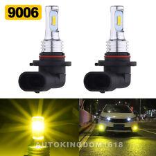 9006 HB4 3570 LED Headlight Fog Light Hi/Lo Bulbs 3000K Yellow 8000LM 70W Set US