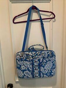 Vera Bradley BLUE LAGOON Messenger Bag LAPTOP PORTFOLIO Computer Case RETIRED
