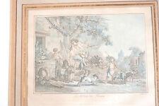 Gravure  HUET à la manière noire début XIXe
