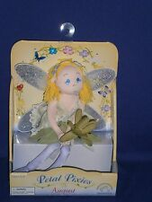 Vintage August Petal Pixies Cloth Doll by Applause 7 inch 2002 Mint in Box