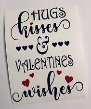 Hugs Kisses Wishes Valentines Wine Bottle Decal Vinyl Sticker Decor Only