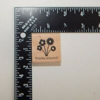 Inkadinkado Flowers thanks a bunch Rubber Stamp 97600