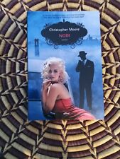 Noir By Christopher Moore signed paperback Italian Edition