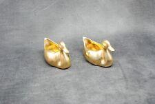 2 petits canards en céramique doré. Poinçon Made in France salière