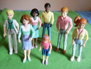 Vintage Playskool dollhouse people, lot of 7