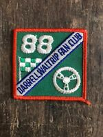 "Vtg Darrell Waltrip Fan Club 3"" Embroidered Patch Sew On Badge NASCAR Racing 88"