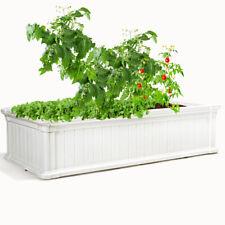 """48""""x24"""" Raised Garden Bed Rectangle Plant Box Planter Flower Vegetable White"""