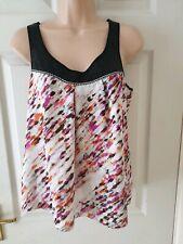 Next Petite Womens Summer Sequin Vest Top Blouse Size 8