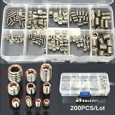 Silver 200pcs/Set Flat Head Hex Stainless Steel Screw Box