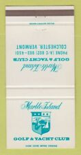New listing Matchbook Cover - Marble Island Golf Yacht Club Colchester VT 30 Strike