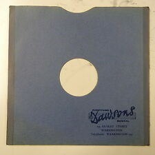 "78rpm 12"" gramophone record sleeve dawsons , warrington"