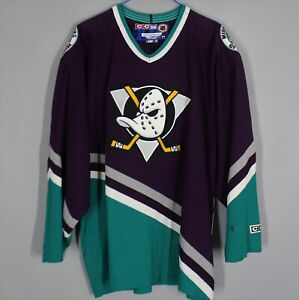 ANAHEIM MIGHTY DUCKS NHL CCM JERSEY VINTAGE ICE HOCKEY SIZE XL