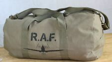 Normandy '44 Vintage Style Canvas Holdall Duffel Bag Hand Painted Spitfire Plane