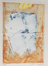 Horst BECKING 1937 , Doppelradierung weiß überarbeitet 1990 , 3/30 farbfrisch