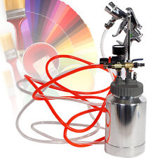 Spray Gun Kit 2 Quart Paint Pressure Pot Complete Kit Spray Gun Pot & Hoses ALL