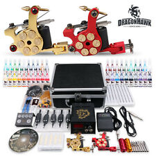 Complete Professional Tattoo  Machine  Kit 2 Gun 40 Color Inks Power Supply Set