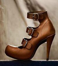 PEDRO GARCIA Cigar Bom, Tan Brown Leather Heels Shoes Size 36 EUC RRP$625.00