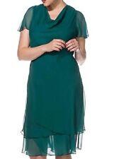 96c414a53b4af Sheego Green Chiffon Waterfall Neckline Dress size UK 22 RRP £110 NWT